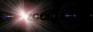 Futuristic glowing light flare panorama background design illustration