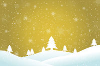 Winter landscape gold