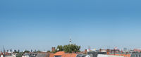 rooftop view over berlin city -  Berlin skyline with tv tower and blue sky