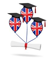 Balloons with british flag and diploma - graduation party.jpg