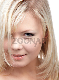 close-up of blonde girl