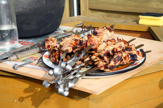 Roasted shish kebab.