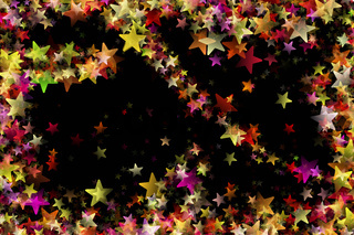 Fantastic Christmas design with glowing stars