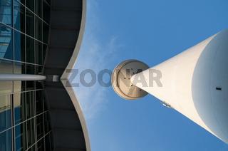 Der hamburger Fernsehturm und die Hamburg Messe