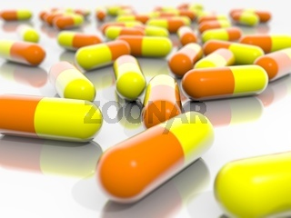 Orange and Yellow Pills