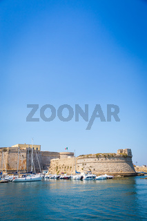 Gallipoli, Italy - historical centre view from the sea