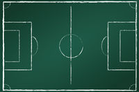 Football field on blackboard 2