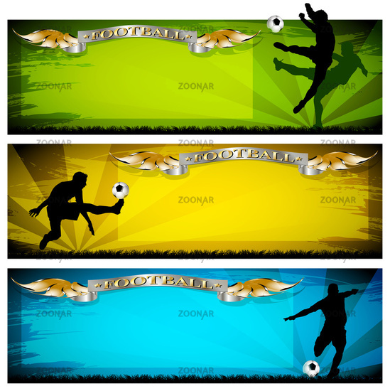 soccer vector banners