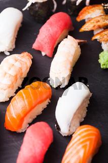 Set of four sushi