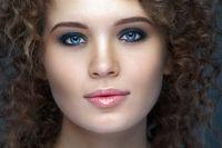 Close up portrait of beautiful woman face