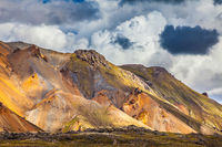 Bright and multi-colored rhyolite mountains