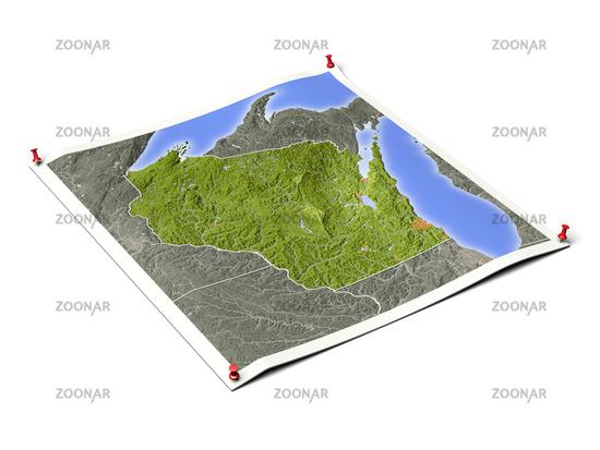 Wisconsin on unfolded map sheet.