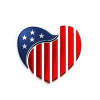 American Heart. 3D Render Illustration