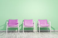 armchairs green wall