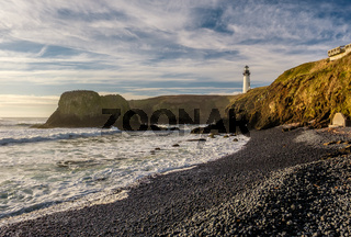 Yaquina Head Lighthouse at Pacific coast, built in 1873