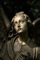 Cemetery sculpture / bronze angel
