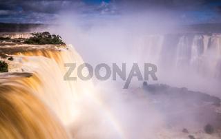 Iguacu Falls with rainbow