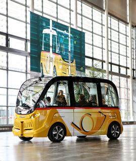 CeBIT 2017 - autonomes Fahren im Postbus