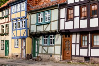 historische Altstadt von Quedlinburg Fachwerkhäuser