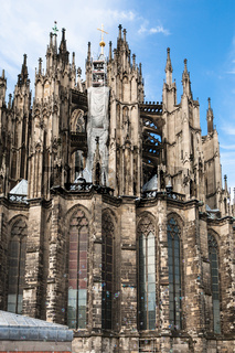 soapbubbles and wall of Cologne Cathedral