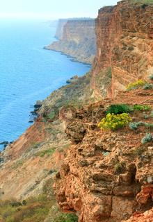 Rocky coast view