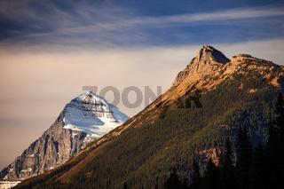 Mount Columbia, tallest peak in Alberta, Canada