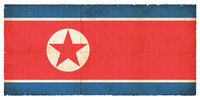 Grunge flag of the North korea