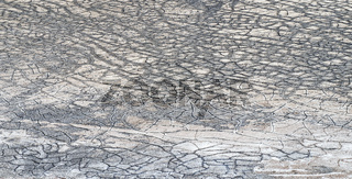 Dry cracks on the big salt lake tuz golu in Anatolia, Turkey