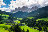Geisler Mountains in South Tyrol