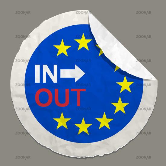 Brexit British referendum concept