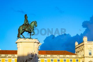 questrian statue of King José in Lisbon (Portugal)