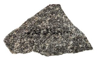 olivinite stone isolated on white background