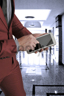 Man on a Tablet