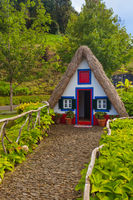 Traditional Madeira house in Santana Portugal