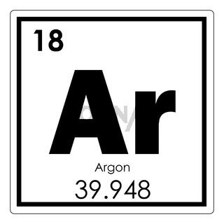 Argon chemical element