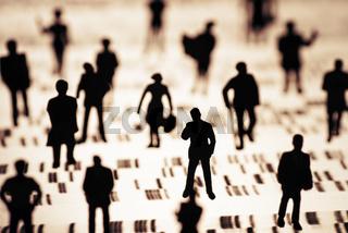 DNA Profil mit Menschen