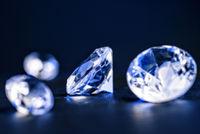 Brilliants in blue light