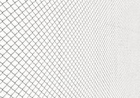 Metal Wire Fence on White Background Illustration