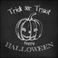Halloween poster design - Hand drawn pumpkin
