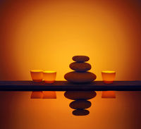 Candle Water stones