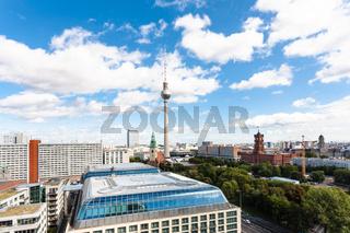 Berlin city skyline with Red City Hall