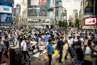 Joy at Shibuya Crossing, Tokyo