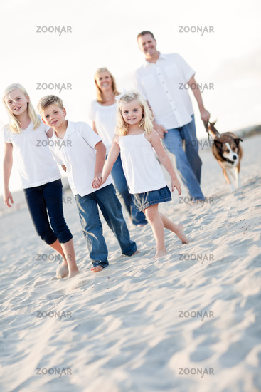 Adorable Little Girl Leads Her Family on a Walk