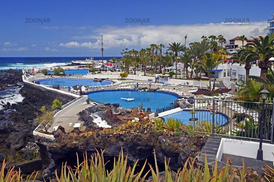 Playa de Martianez, gestaltet von Cesar Manrique, Puerto de la C