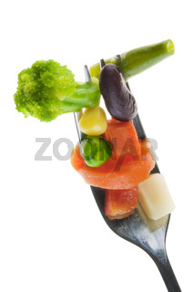 Correct vegetable diet concept