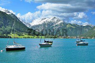 am Achensee mit Blick auf Pertisau,Tirol,Oesterreich