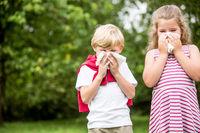 Kinder mit Allergie haben Heuschnupfen