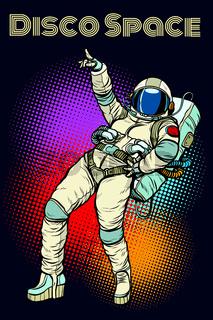 astronaut woman dancing disco