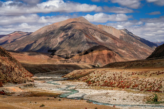 Mountain river valley in Yunnan