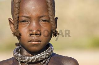 Himba Maedchen, Namibia, Afrika, Himba girl, Africa, portrait